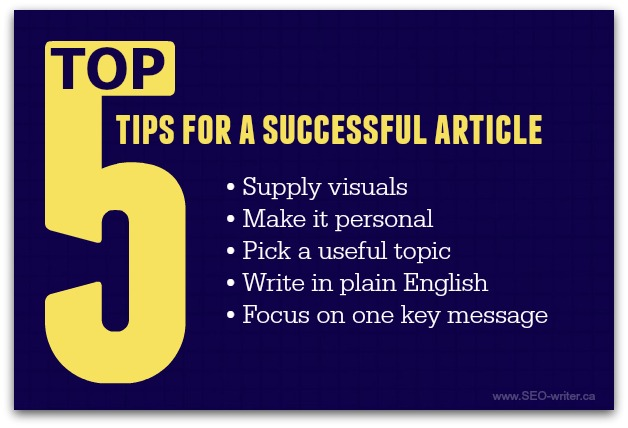 Tips for a successful article