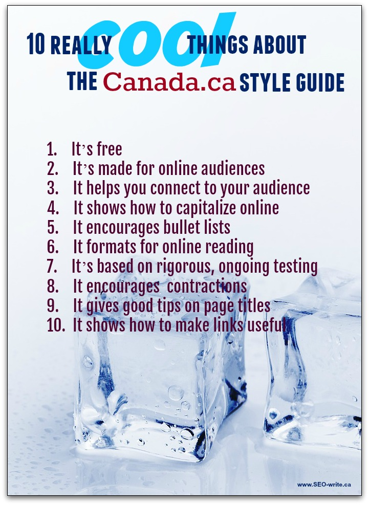 Infographic - 10 really cool things about the Canada dot ca style guide
