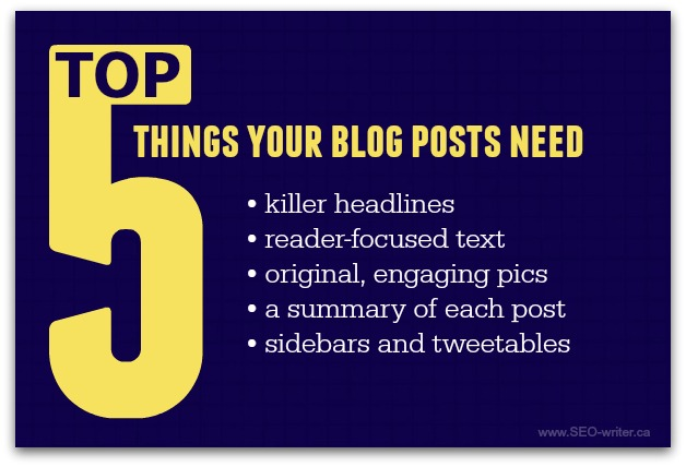 What your blog post needs