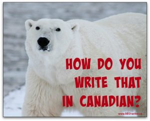 How to write Canadian