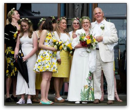 Plant-themed wedding dress