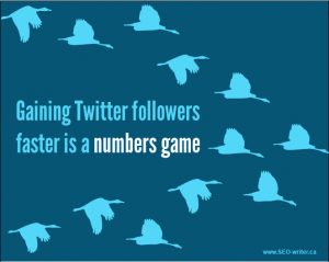 Gaining Twitter followers faster is a numbers game