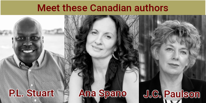 Canadian authors PL Stuart and Ana Spano and JC Paulson